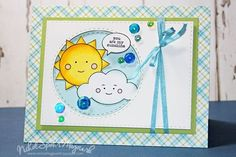 How cute are those little faces?? Could make a cute baby card. Simon Say Stamp May card kit.