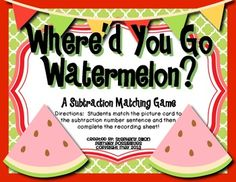 Freebie! Where's You Go Watermelon?  From Stephany Dillon/ Primary Possibilities