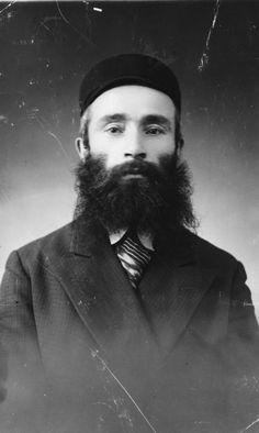 Studio portrait of a religious Polish Jew.  Pictured is Mordechai Balter.