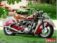 Flat out hard core dressed to the nines Indian motorcycle