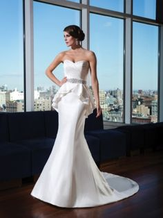Justin Alexander Signature collection peplum  wedding dress
