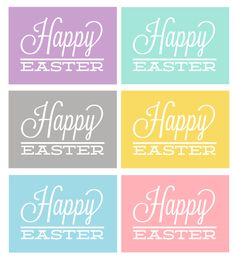 Free happy easter print in 6 different colors!
