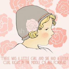 Curl in the middle of her forhead by sarahjanestudios on Etsy