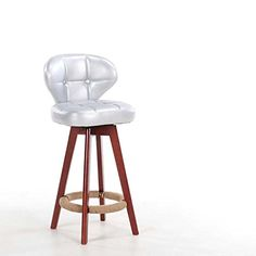 Discreet Solid Wood Retro Bar Chairs European-style Bar Chair Lift Swivel Chair At The Front Desk Bar Furniture