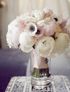 romantic pink vintage wedding flower bouquet, bridal bouquet, wedding flowers, add pic source on comment and we will update it. www.myfloweraffair.com