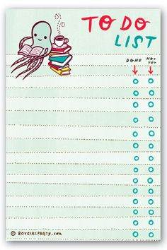Are you ready to tackle your resolutions? Happy New Year! To Do List by boygirlparty from http://shop.boygirlparty.com
