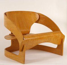 Kartell Reissues Joe Colombo's Revolutionary 4801 Plywood Chair--In Plastic