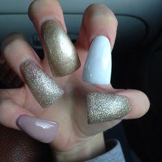 don't like the duck nails, but cute design Nail Glue, Nail Nail, Nail Polish, Nail Tech, Long Acrylic Nails, Long Nails, Acrylic Nail Designs, Nail Art Designs, Duck Nails