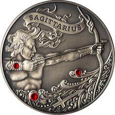 Belarus 2013 20 rubles Signs of the zodiac Sagittarius Antique finish Silver Coin Sagittarius Astrology, Leo Horoscope, Zodiac Art, Zodiac Signs, Aries Constellation Tattoo, Tattoo Signs, Rare Coins, Silver Coins, Tatoo