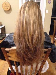 Long layered haircut done my me. #longlayers #blonde #long