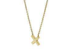 The solid gold 'Kiss' delicately set on a fine gold chain. A symbol of love.