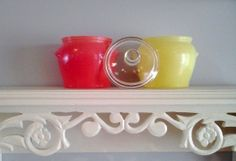 Glasbake Jeanette Dishware with Lid by FingerLakesFinds on Etsy