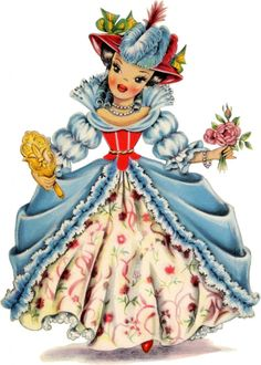 Retro France Doll Image! - The Graphics Fairy