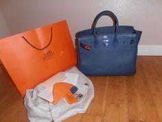 hermes style handbags - Hermes Birkin 35cm Blue de Prusse on Pinterest | Hermes Birkin ...