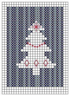 Christmas trees - free cross stitch patterns