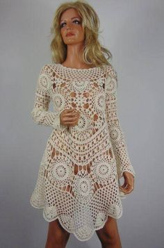 pattern for crochet shoes Crochet Beach Dress, Crochet Wedding Dresses, Crochet Summer Dresses, Crochet Girls, Crochet Woman, Crochet Shoes, Crochet Clothes, Crochet Lace, Crochet Edgings