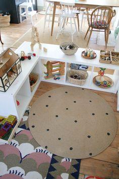 Baby Toy Storage, Playroom Storage, Playroom Design, Living Room Toy Storage, Ikea Toy Storage, Room Organization, Living Room Playroom, Toddler Playroom, Kids Bedroom