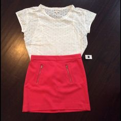 Gap Eyelet Shirt NWT Gap Eyelet Shirt in white with attached tank. Size XS Petite but would fit a S/M. GAP Tops