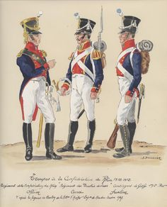 Saxe-Gotha; Confederation of the Rhine Infantry Regiment des Duches de Saxe, Contingent from Saxe Gotha 1st & 2nd Battalions, Officer Cornet & Fusilier 1810-12