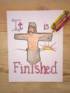 FREE Jesus on the Cross Coloring Page
