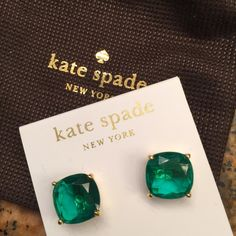 Large KATE SPADE Square Emerald GUMDROPS Beautiful Emerald Green Large Square Gumdrops. Post will Gold Plating. ❎No Offers❎No Trades✳️Price is Firm. BUNDLE to SAVE kate spade Jewelry Earrings