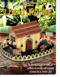 Plastic Canvas PATTERN Leaflet - St. Patrick's Irish Home