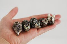Choose your very own hedgie:  This listing is for one (1) little hedgehog of your very own. Each one is approx. 1.5 in length.  Choose one or