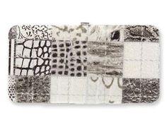 Silver & Gray Patchwork Metropolitan Hard Case Wallet