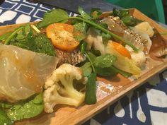真鯛と金柑のサラダ