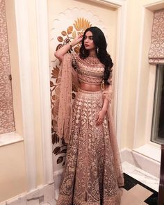 bollywood fashion Janhvi Kapoor / Khushi Kapoor on - Indian Gowns, Indian Lehenga, Indian Attire, Indian Ethnic Wear, Pakistani Dresses, Pakistani Suits, Pakistani Bridal, Indian Saris, Punjabi Dress