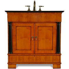 The Biedermeier Sink Base Cabinet by J. Tribble, Atlanta's premier manufacturer of custom veneer sink base cabinets, vanities, and handcrafted cabinetry.