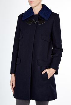 Single Breasted Navy Coat By See By Chloe