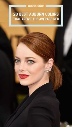 26 Best Auburn Hair Colors - Celebrities with Red Brown Hair