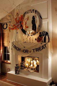 Halloween mantle.