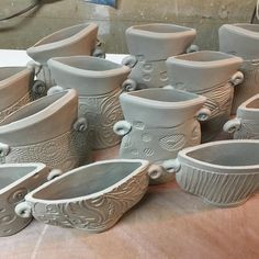 Getting some vases done before I head out for my next craft fair over the holiday weekend. #vases#greenware#done #crockerholidayartisanmarket