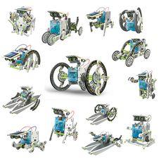 Kit para construir robots solares 14x1 Eco-robot