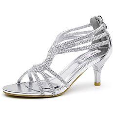 huge discount 32f0c 38543 SHESOLE Damen Knöchel-Riemchen Sandalen Mitte Ferse Strass  Riemchensandaletten Hochzeit Schuhe (Die Hälfte Größe größer) Amazon.de  Schuhe  Handtaschen