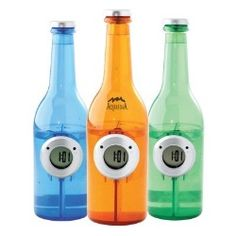 Water Powered Clock in Bottle Shape...best way to go green is by just adding water!