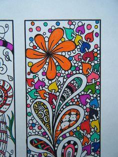 Sue Zipkin printable set of 8 whimsical inspirational bookmarks ...