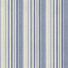 Fabric of the week - Hove Stripe Blue  Hove Stripe Blue is a lively cotton fabric that features multiple tonal stripes. Simple yet stylish, it is a timeless selection for injecting a subtle pop of colour into any decorating scheme.  #fabricoftheweek #stripes #madeinbritain #cottonfabric #stripedfabric #fabric #curtain #cushion #softfurnishings #homedecor