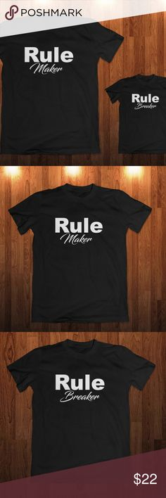 Rule Maker And Rule Breaker T-shirts Rule T- Shirt Included two t-shirt one for adult and other for the kid . Rule Maker And Rule Breaker T-shirts Rule T- Shirt Dad & Son Shirt Daddy And The Son T Shirts Father's Day Shirts Gift For Son Shirts Tees - Short Sleeve