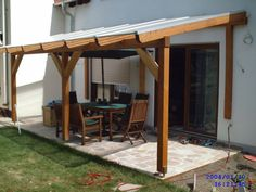 Terrassenüberdachung Konstruktionsholz 3 Though old around thought, the actual pergola have been having somewhat of Diy Pergola, Diy Carport, Pergola Design, Backyard Canopy, Garden Canopy, Canopy Design, Pergola With Roof, Canopy Outdoor, Covered Pergola