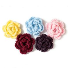 Knit Lapel Flowers
