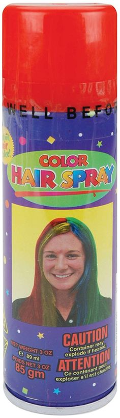 Color Hair Spray 3oz-Red * Find out more about the great product at the image link.