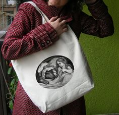 Shopper Grocery Diaper Tote Bag 100 Cotton por mmmfantasiadealgodon, $24.06