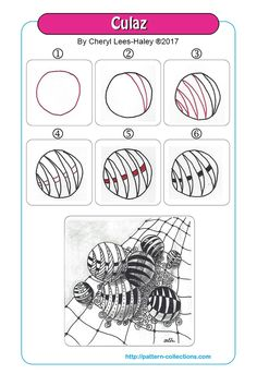 new Ideas for drawing ink doodles zentangle patterns Zentangle Drawings, Doodle Drawings, Easy Drawings, Doodle Art, Zen Doodle Patterns, Doodle Designs, Zentangle Patterns, Doodle Borders, Ink Doodles