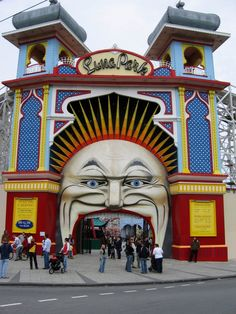 ✮ went here as a child many times, would love to take mick and the boys, and letitia too. Luna Park - Melbourne, Australia