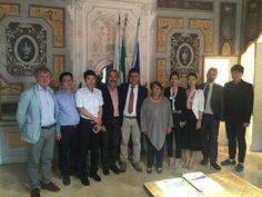 Urbino visita di una delegazione di operatori cinesi che si occupano di restauro