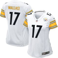 61cc5c1128e Nike Game Womens Pittsburgh Steelers  17 Mike Wallace White NFL  Jersey 69.99 Browns Game