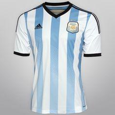 Netshoes -  Camisa Adidas Seleção Argentina Home 2014 s/nº